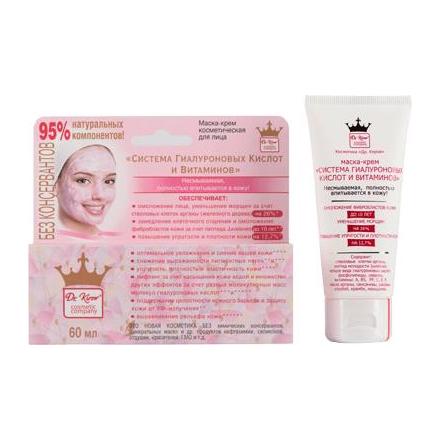 Dr. Kirov, Крем-маска для лица «Система гиалуроновых кислот и витаминов», 60 мл chi luxury black seed oil curl defining cream gel