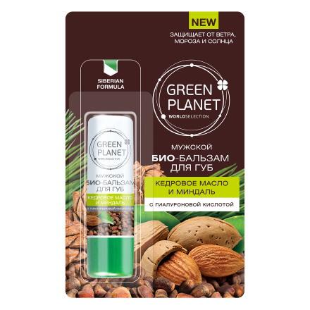 Green Planet, Био-бальзам для губ «Кедровое масло и миндаль» chi luxury black seed oil curl defining cream gel