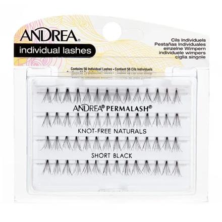 Купить Andrea, Пучки ресниц Perma, безузелковые, короткие, черные
