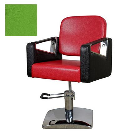 Купить Мэдисон, Кресло парикмахерское «МД-201» гидравлическое, хромированное, салатовое
