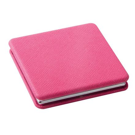 Dewal, Зеркало карманное квадратное «Палитра», розовое