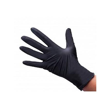 Купить White line, Перчатки нитриловые черные, размер M, 100 шт.