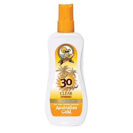 Australian Gold, SPF 30+ Spray Gel 237 мл (крем для загара на солнце) крем для загара