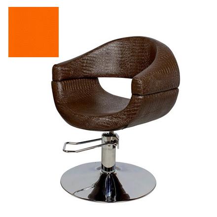 Купить Мэдисон, Кресло парикмахерское «МД-108» гидравлическое, хромированное, апельсиновое