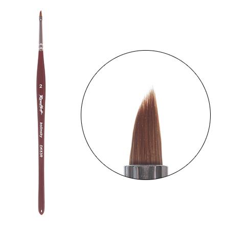 Roubloff, Кисть для китайской росписи, наклонная, из волоса колонка №2 (DK63R) roubloff кисть для дизайна плоская из волоса колонка 3 dк23r