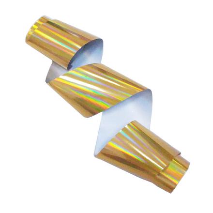 Купить De.Lux, Фольга переводная голографическая, золотая