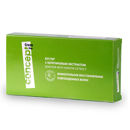Concept, Бустер с кератиновым экстрактом, 10 ампул по 10 мл