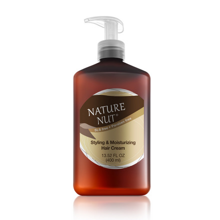 Nature Nut, Крем для волос Styling & Moisturizing, 400 мл chi luxury black seed oil curl defining cream gel