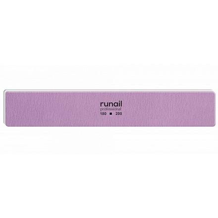Купить RuNail, Пилка для искусственных ногтей, сиреневая, прямая, 180/200