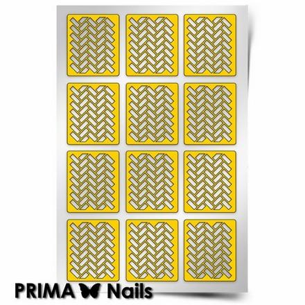 Prima Nails, Трафареты «Кирпичики 2»Трафареты для маникюра<br>Самоклеящиеся трафареты для необычного дизайнерского маникюра.<br>