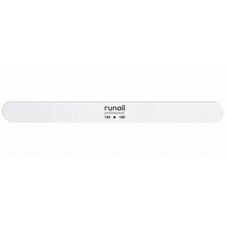Купить RuNail, Пилка для искусственных ногтей, белая, закругленная, 150/180