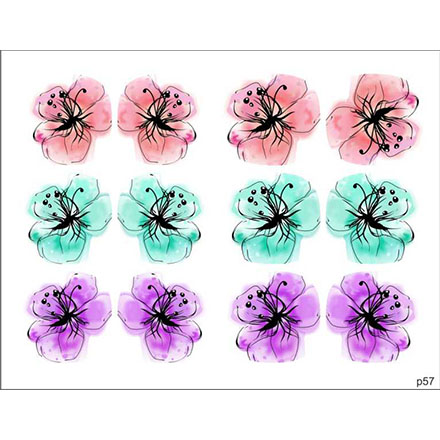 Купить BPW.Style, Слайдер-дизайн «Цветы» №p57, для педикюра