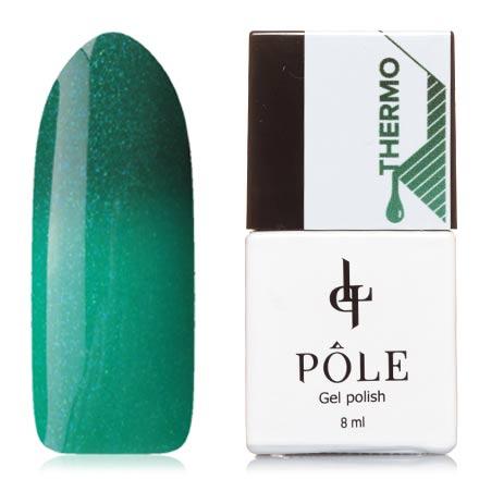 POLE, Гель-лак  №09, изумрудный и мятныйPOLE<br>Гель-лак термо (8 мл) изумрудный/мятно-зеленый, с микроблестками, плотный.<br><br>Цвет: Зеленый<br>Объем мл: 8.00