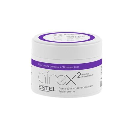 Estel, Глина для моделирования Airex, пластичная фиксация для волос, 65 мл