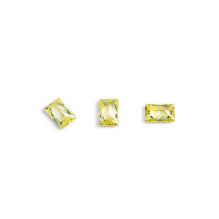 Купить TNL, Кристаллы «Багет» №1, желтые, 10 шт., TNL Professional