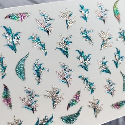 Купить Anna Tkacheva, 3D-слайдер Crystal №970 «Веточки. Листья»