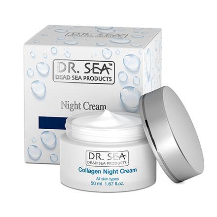 Купить DR. SEA, Ночной крем для лица Collagen, 50 мл