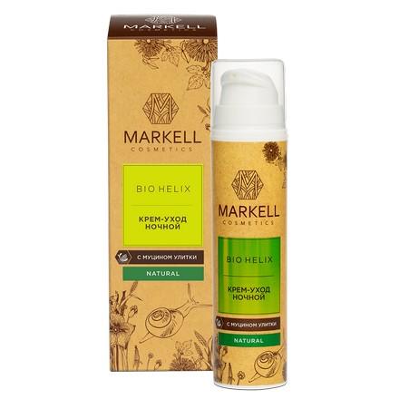 Купить Markell, Крем-уход с муцином улитки «Bio-Helix», ночной, 50 мл