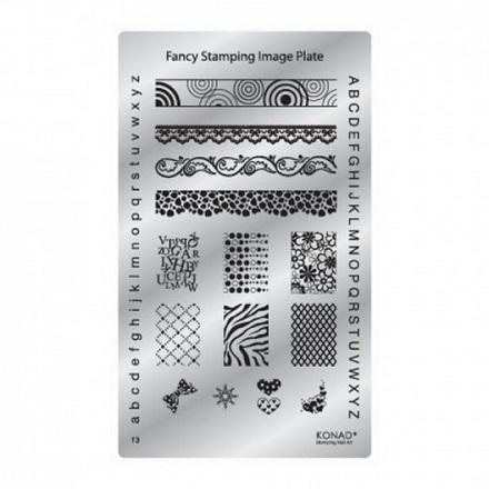 Konad, Пластина для стемпинга Square Fancy Image plate f3 diy 4a 5mm x 20 mm high class glass fuses 100 pack