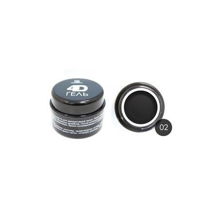 TNL, 4D-гель для дизайна ногтей №2, черный
