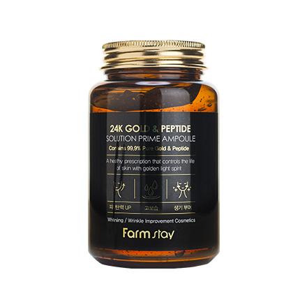 FarmStay, Сыворотка ампульная 24 Gold&Peptide, 250 мл