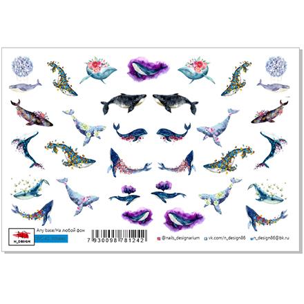 Купить N-DESIGN, Слайдер-дизайн WC-42, Whales