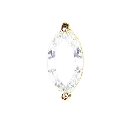 Ice Nova, Капля алмазная D03, золотая  - Купить