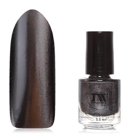 Masura, Лак для ногтей №904-117М, Неограненный алмазМагнитные лаки Masura<br>Магнитный лак (3,5 мл) черный, с серебряным перламутром, плотный.<br><br>Цвет: Черный<br>Объем мл: 3.50