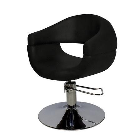Купить Мэдисон, Кресло парикмахерское «МД-108» гидравлическое, хромированное, черное