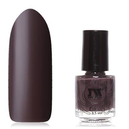 Masura, Лак для ногтей «Золотая коллекция», Темная сторона луныMasura<br>Термолак (3,5 мл) темно-коричневый/светло-серый, без перламутра и блесток, плотный.