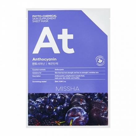 Купить Missha, Маска для лица Phyto-chemical Anthocyanin, 25 мл