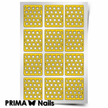 Prima Nails, Трафареты «Крестики»Трафареты для маникюра<br>Самоклеящиеся трафареты для необычного дизайнерского маникюра.<br>