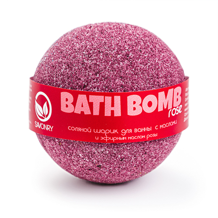 Купить Savonry, Бурлящий шарик для ванны Rose, 100 г