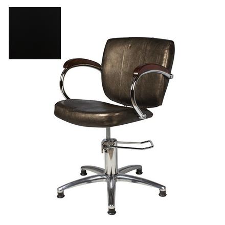 Купить Мэдисон, Кресло парикмахерское «Грация» гидравлическое, хромированное, черное
