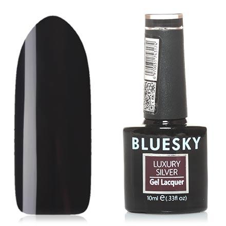 Bluesky, Гель-лак Luxury Silver №179Bluesky Шеллак<br>Гель-лак (10 мл) черный, без перламутра и блесток, плотный.