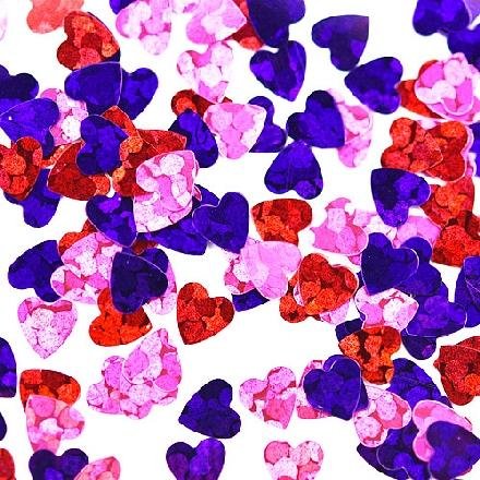 Patrisa Nail, Камифубуки «Сердечки» №К94, микс, голографияКамифубуки<br>Камифубуки для дизайна ногтей (5 г). Цвета: розовый, красный, фиолетовый.
