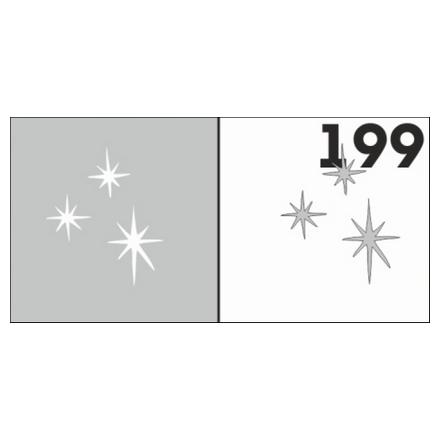 Airnails, Трафареты №199Трафареты для маникюра<br>Набор многоразовых клеевых трафаретов для аэрографии на ногтях из высокоэластичной пленки.<br>