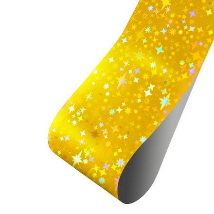 Patrisa nail, Фольга для дизайна Звездочки (голография золотая), 60 см