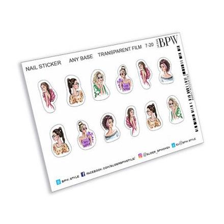 Купить BPW.style, Наклейки «Девушки» №ns7-20