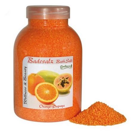 Camillen 60, Соль восстанавливающая, Badesalz Orange&Papaya, 1350 г