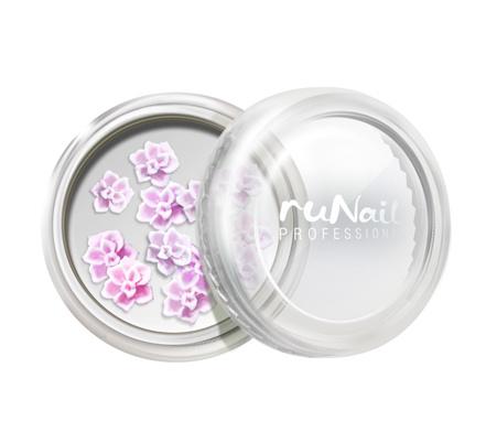 ruNail, дизайн для ногтей: акриловые цветы (розы,розовый), 10 шт runail дизайн для ногтей бульонки 0323 зеленый