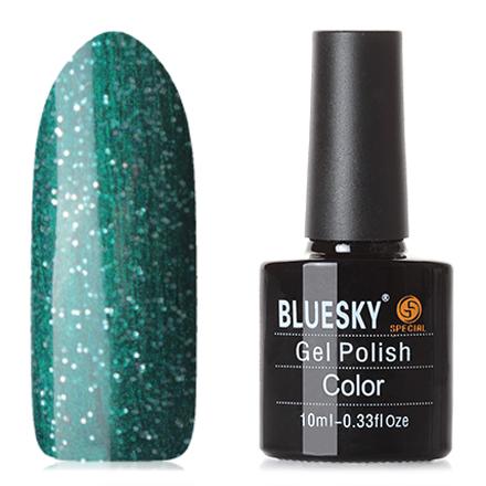 Bluesky, Гель-лак №80635Bluesky Шеллак<br>Гель-лак (10 мл) изумрудный, с перламутром, с серебристыми блестками, плотный.<br><br>Цвет: Зеленый<br>Объем мл: 10.00
