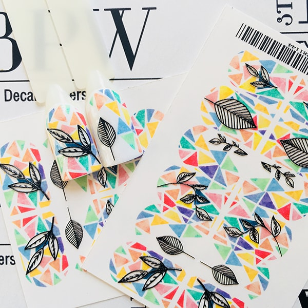 BPW.Style, Слайдер-дизайн 3D «Геометрия с черными листьями» №3d-141