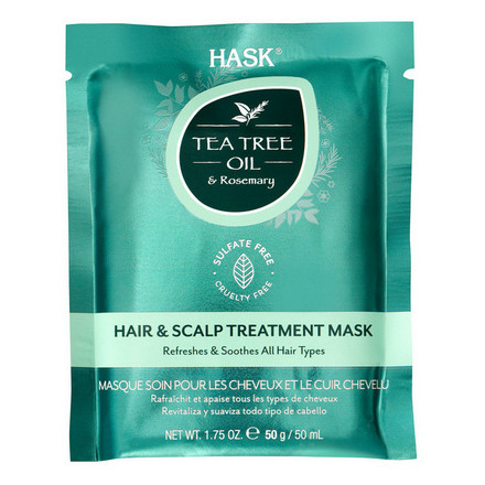 Купить Hask, Маска Tea Tree Oil & Rosemary, 50 мл