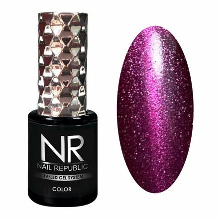 Купить Nail Republic, Гель-лак Cat 5D №62, Фиолетовый