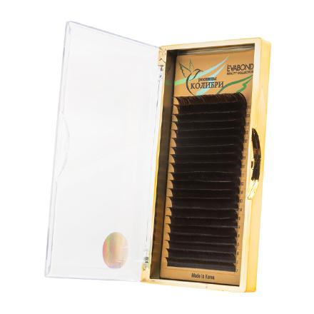 Купить EVABOND, Ресницы на ленте «Колибри», D=0, 10, D-изгиб, темный шоколад