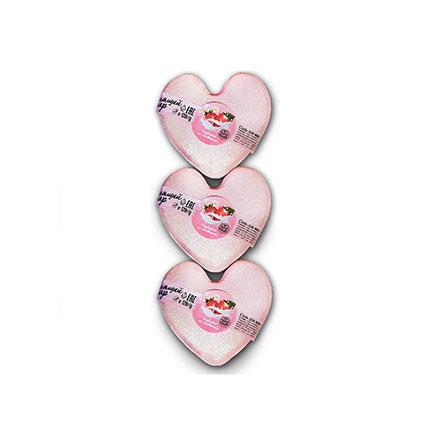 Купить Ресурс Здоровья, Бурлящие сердечки для ванны «Клубника со сливками», 3 шт.
