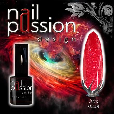 Купить Nail Passion, Гель-лак «Дух огня», Красный