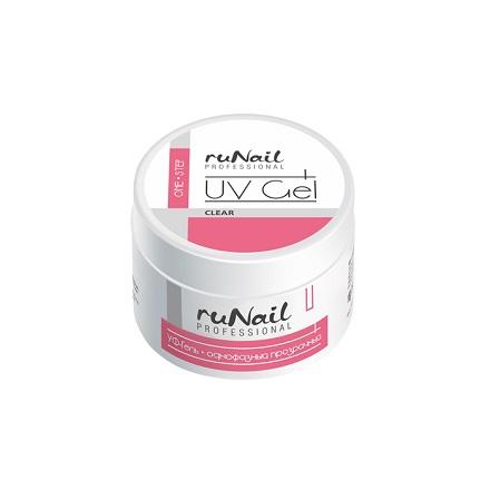 ruNail, УФ-гель однофазный (прозрачный), 30 г runail дизайн для ногтей ракушки 0284