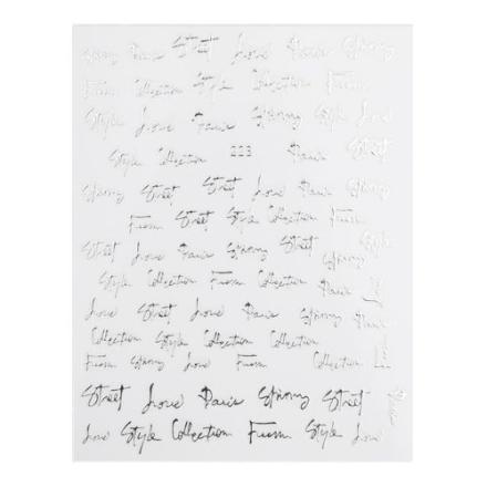 Купить Monami Professional, Наклейки №223 «Слова», серебро